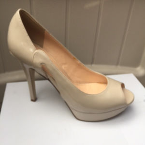 Marc Fisher Patent Peep Toe Heels